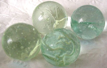 475 marbles used to make Fiberglas and melted in early studio glass furnaces.