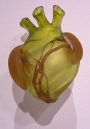 Cabozon blown glass heart