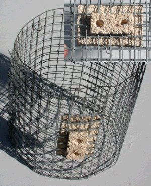 Wire cage of bottle stretcher heater with element insulation block