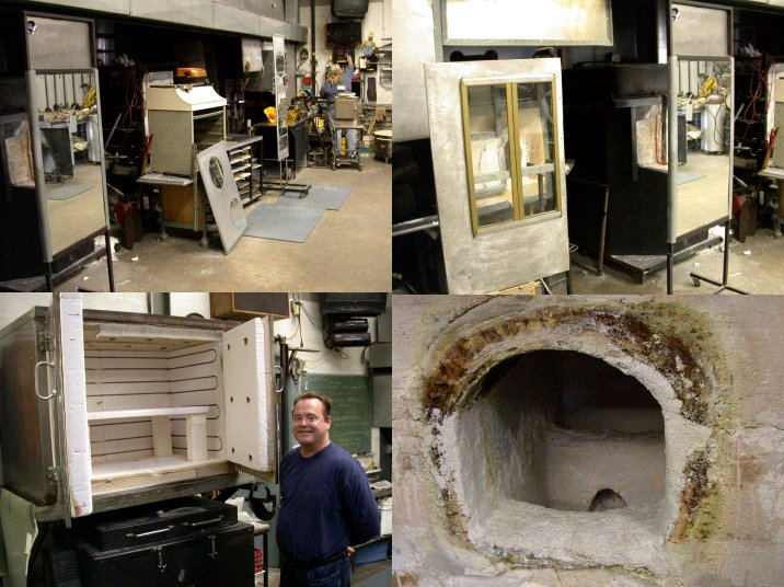 Peter Patteerson's studio hot wall and furnace.