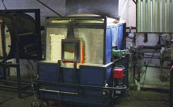 Hickory Street Hot Glass furnace