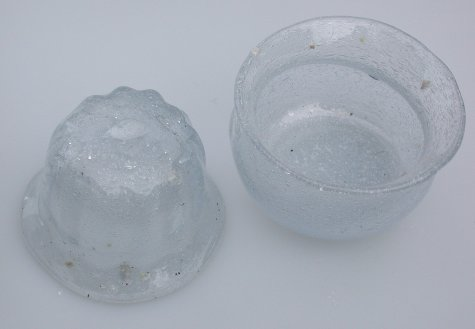 Two pieces from session 2003-04-13, including first successful from cast optic.