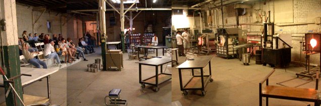 Spiral Glass hot shop panorama