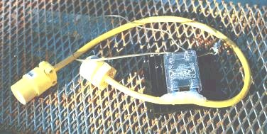 Solid state relay mounted in cable