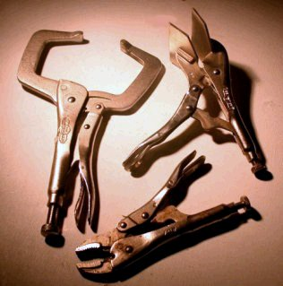 Three sample Vise Grip pliers